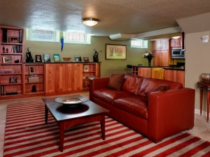 Family room - Bonnie Brae Basement   Cambridge Colorado