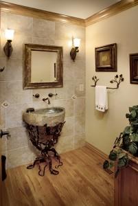 Powder Room - Centennial Ranch Remodel | Cambridge Colorado